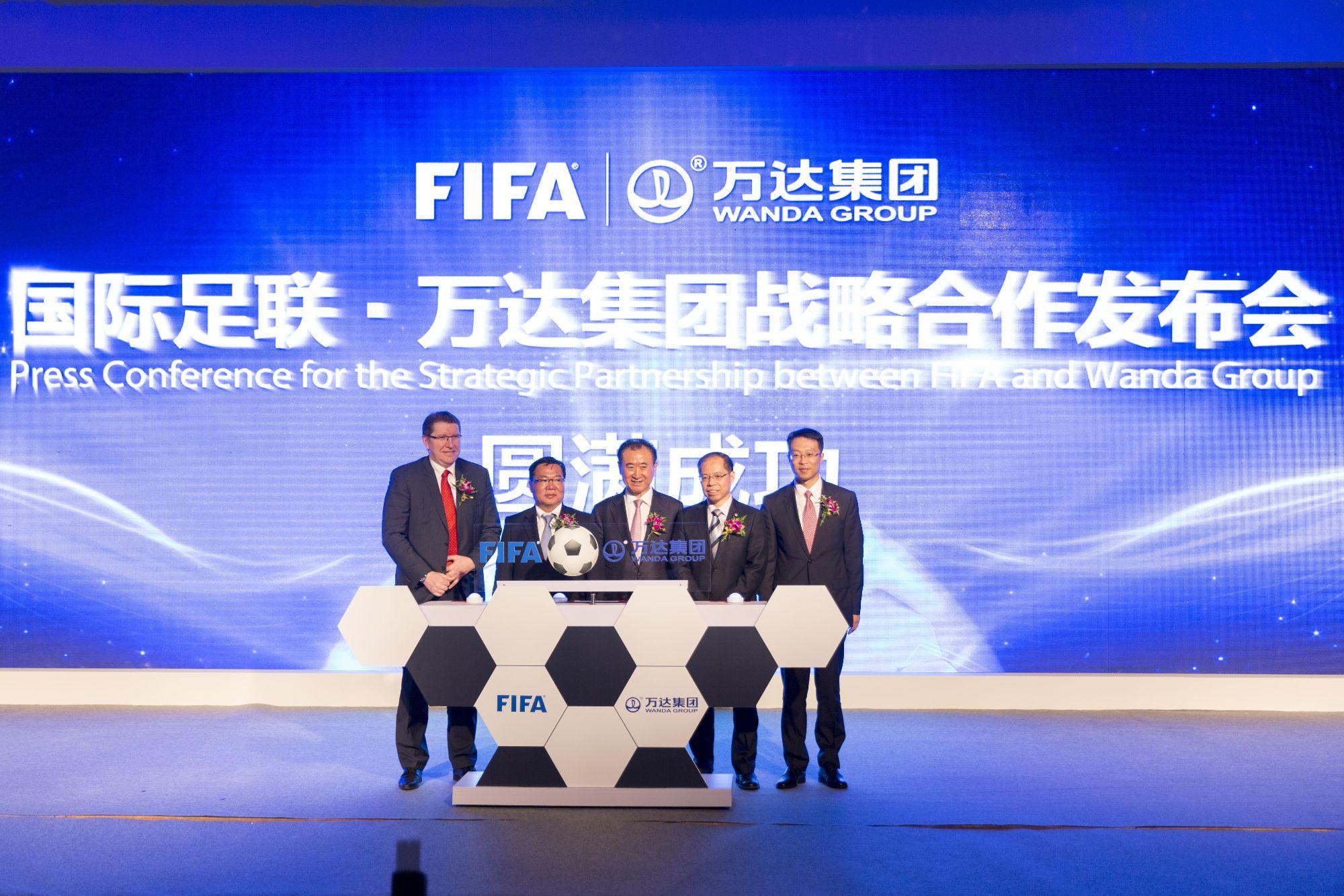 万达与国际足联签下了长达15年的战略合作协议,这是万达布局体育